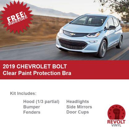 2019 Chevrolet Bolt Pre Cut Paint Protection Clear Bra Kit