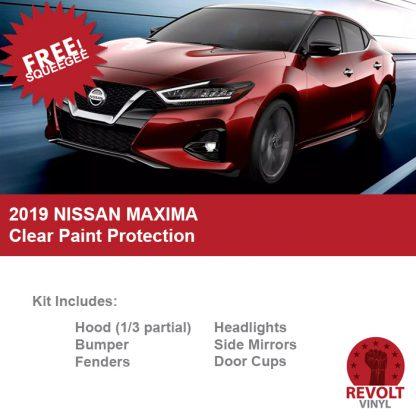 2019 Nissan Maxima Pre Cut Clear Paint Protection Bra Kit