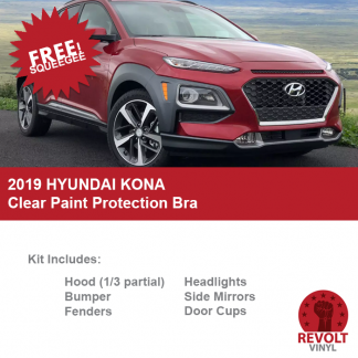 2019 Hyundai Kona Pre Cut Clear Paint Protection Bra Kit