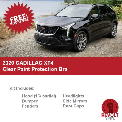 2020 Cadillac XT4 Pre Cut Clear Paint Protection Bra Kit