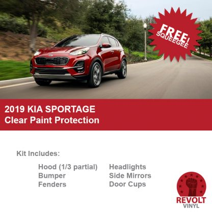 2020 Kia Sportage Pre Cut Clear Paint Protection Bra Kit